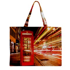 Telephone Box London Night Medium Tote Bag