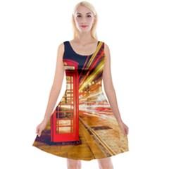 Telephone Box London Night Reversible Velvet Sleeveless Dress