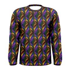 Seamless Prismatic Line Art Pattern Men s Long Sleeve Tee