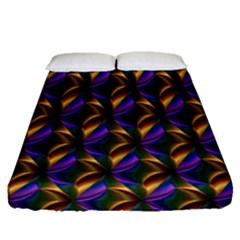 Seamless Prismatic Line Art Pattern Fitted Sheet (queen Size)