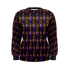 Seamless Prismatic Line Art Pattern Women s Sweatshirt