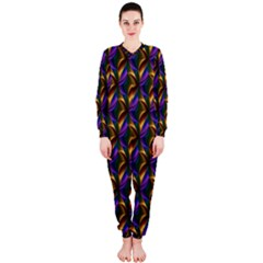 Seamless Prismatic Line Art Pattern OnePiece Jumpsuit (Ladies)