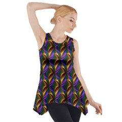Seamless Prismatic Line Art Pattern Side Drop Tank Tunic