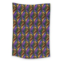 Seamless Prismatic Line Art Pattern Large Tapestry