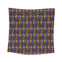 Seamless Prismatic Line Art Pattern Square Tapestry (small)