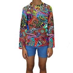 Vector Art Pattern Kids  Long Sleeve Swimwear
