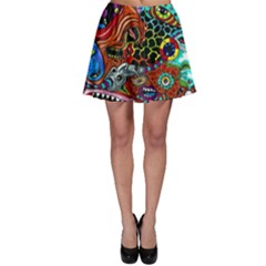 Vector Art Pattern Skater Skirt