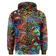 Vector Art Pattern Men s Zipper Hoodie
