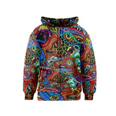 Vector Art Pattern Kids  Zipper Hoodie