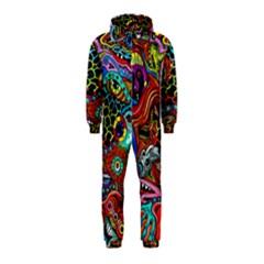 Vector Art Pattern Hooded Jumpsuit (Kids)