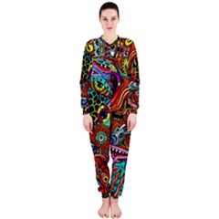 Vector Art Pattern Onepiece Jumpsuit (ladies)