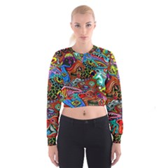 Vector Art Pattern Women s Cropped Sweatshirt