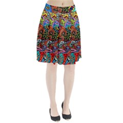 Vector Art Pattern Pleated Skirt