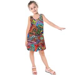 Vector Art Pattern Kids  Sleeveless Dress