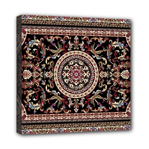 Vectorized Traditional Rug Style Of Traditional Patterns Mini Canvas 8  X 8