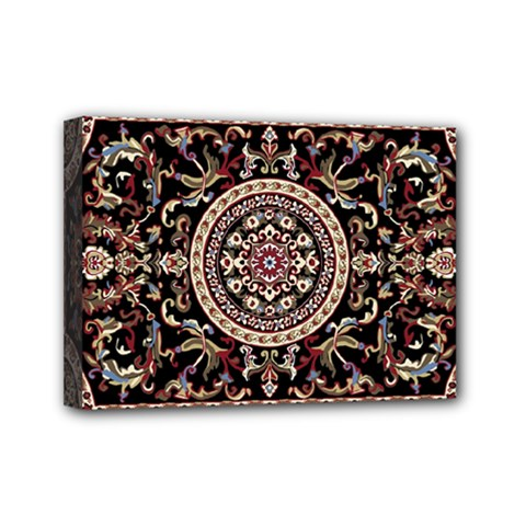 Vectorized Traditional Rug Style Of Traditional Patterns Mini Canvas 7  X 5