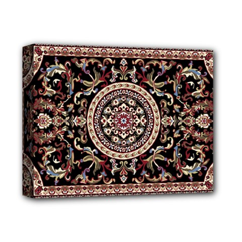 Vectorized Traditional Rug Style Of Traditional Patterns Deluxe Canvas 14  X 11