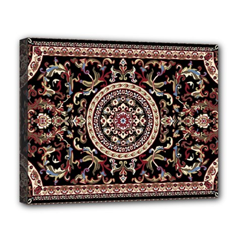 Vectorized Traditional Rug Style Of Traditional Patterns Deluxe Canvas 20  X 16