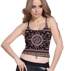 Vectorized Traditional Rug Style Of Traditional Patterns Spaghetti Strap Bra Top