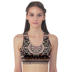 Vectorized Traditional Rug Style Of Traditional Patterns Sports Bra