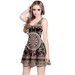 Vectorized Traditional Rug Style Of Traditional Patterns Reversible Sleeveless Dress