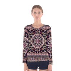 Vectorized Traditional Rug Style Of Traditional Patterns Women s Long Sleeve Tee
