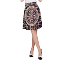 Vectorized Traditional Rug Style Of Traditional Patterns A-Line Skirt