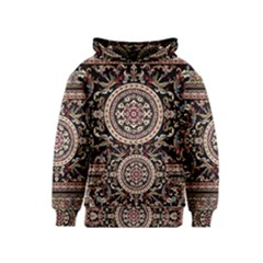 Vectorized Traditional Rug Style Of Traditional Patterns Kids  Pullover Hoodie