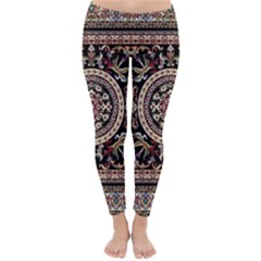 Vectorized Traditional Rug Style Of Traditional Patterns Classic Winter Leggings