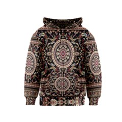 Vectorized Traditional Rug Style Of Traditional Patterns Kids  Zipper Hoodie