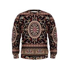Vectorized Traditional Rug Style Of Traditional Patterns Kids  Sweatshirt