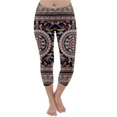 Vectorized Traditional Rug Style Of Traditional Patterns Capri Winter Leggings