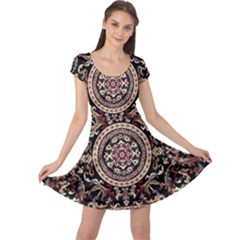Vectorized Traditional Rug Style Of Traditional Patterns Cap Sleeve Dresses