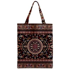 Vectorized Traditional Rug Style Of Traditional Patterns Zipper Classic Tote Bag