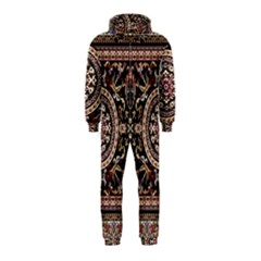 Vectorized Traditional Rug Style Of Traditional Patterns Hooded Jumpsuit (kids)