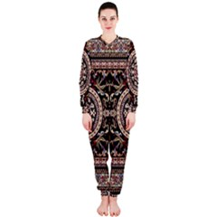 Vectorized Traditional Rug Style Of Traditional Patterns OnePiece Jumpsuit (Ladies)