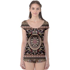 Vectorized Traditional Rug Style Of Traditional Patterns Boyleg Leotard