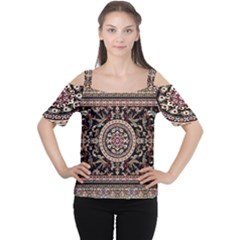 Vectorized Traditional Rug Style Of Traditional Patterns Women s Cutout Shoulder Tee