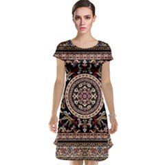 Vectorized Traditional Rug Style Of Traditional Patterns Cap Sleeve Nightdress