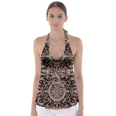 Vectorized Traditional Rug Style Of Traditional Patterns Babydoll Tankini Top