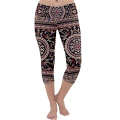 Vectorized Traditional Rug Style Of Traditional Patterns Capri Yoga Leggings