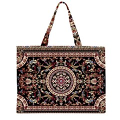 Vectorized Traditional Rug Style Of Traditional Patterns Large Tote Bag