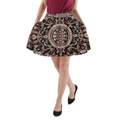 Vectorized Traditional Rug Style Of Traditional Patterns A-Line Pocket Skirt