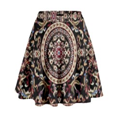 Vectorized Traditional Rug Style Of Traditional Patterns High Waist Skirt