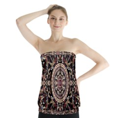 Vectorized Traditional Rug Style Of Traditional Patterns Strapless Top