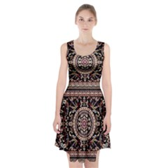 Vectorized Traditional Rug Style Of Traditional Patterns Racerback Midi Dress