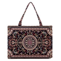 Vectorized Traditional Rug Style Of Traditional Patterns Medium Zipper Tote Bag