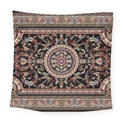 Vectorized Traditional Rug Style Of Traditional Patterns Square Tapestry (large)