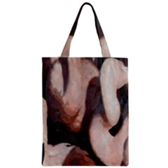Flamingo Hustle Zipper Classic Tote Bag