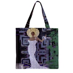 Hello Zipper Grocery Tote Bag